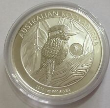 2014 Australian Kookaburra with Horse Privy 1 oz .999 Silver Bullion Coin