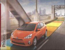 2012 12 Toyota Prius C oiginal sales brochure MINT