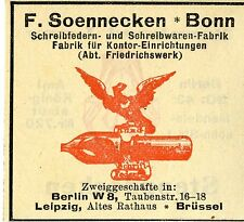 F.Soennecken Bonn SCHREIBFEDER-SCHREIBWAREN-FABRIK Trademark 1912