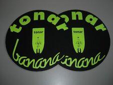 Tonar Banana Slipmats Doppelpack NEU DJ-Slipmat NEW Schwarzlicht-Leuchtaktiv