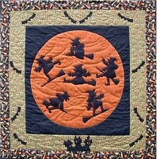 Quilt  PATTERN Su Sun designs Life is a witch and then you fly Halloween wicca