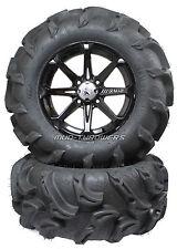 "MSA M12 Diesel Wheels 14"" on 28"" Mega Mayhem Tires Polaris RZR 900 S"