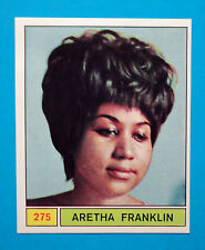 Figurina/Sticker-CANTANTI PANINI 69-n. 275 - ARETHA FRANKLIN -recuperata