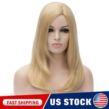 Women's Synthetic Wig long BLONDE Heat Resistant Cosplay Hair Synthetic Wigs Cap