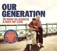 OUR GENERATION 75 MOD CLASSICS NEW SEALED 3CD HITS FROM THE 60's,70's,80's ETC