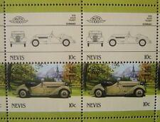1936 ADLER TRUMPF Car 50-Stamp Sheet / Auto 100 Leaders of the World