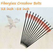 Crossbow Bolts Fiberglass Arrow Flat Nock for Archery Outdoor Hunting Pack of 12