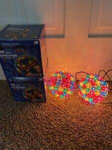 GE 100 Light Multi-Color Lighted Starlight Outdoor Christmas Ball Decoration F5