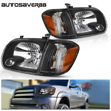Headlights for 2005-2006 Toyota Tundra/2005-2007 Sequoia Black Headlamp Assembly