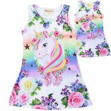 Summer Girls Unicorn Dress Children Party Birthday Sleeveless Dresses 2020