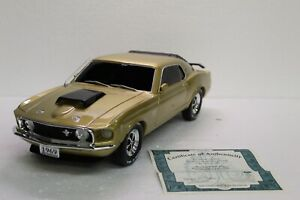 Bradford Exchange - Mustang Boss 429 - 1/12 Scale - Gold Plated Limited Edition