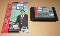 ESPN Sunday Night NFL With Manual for Sega Genesis Fast Shipping! Authentic