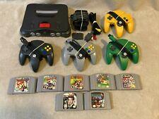 Nintendo 64 + 4 Controllers, 7 games -- Multi-Player Mega Set!! - mario, smash++