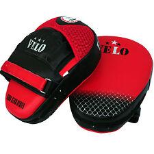 VELO Focus Pads Hook & Jab Mitts Kick Boxing MMA Strike Punching Kick Curved LTH