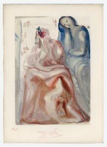 1960s Dali Wood Engraving Purgatory Canto 31 La Confession de Dante 55/150 signd