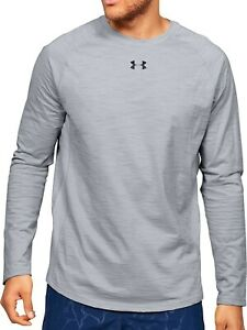 Under Armour Mens M Charged Dri-Fit Cotton Long Sleeve Training/Gym Top Grey