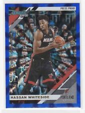 2019-20 Donruss NBA HASSAN WHITESIDE Blue Laser Press Proof #34/49 TRAILBLAZERS