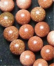 "6mm Goldstone Round Gemstone Loose beads 15"" JL112"