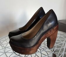 Chunky platform, Wittner brand, Leather with Timber heel very good condition.