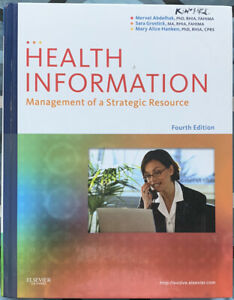Health Information : Management of a Strategic Resource by Sara Grostick 4th Ed