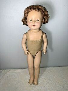 "Vintage 20"" ROSEBUD Composition Doll - Needs Restoration"
