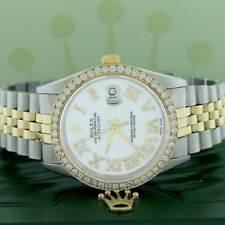 Rolex Datejust 2-Tone 36mm Jubilee Watch w/MOP Roman Diamond Dial & 1.85Ct Bezel