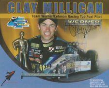2005 Clay Millican signed Werner Enterprises Top Fuel IHRA postcard