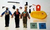 Lot GI Joe's Action Figures Snake Eyes Maj. Bludd Sgt. Graves Rubber Raft Hasbro