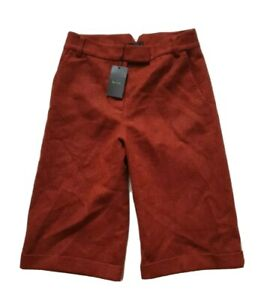 Womens PAUL SMITH SHORTS Black Label Wool Burnt Orange Size 42 (10)