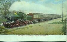 Great Western 4-4-0 Bulldog Class THE FLYING DUTCHMAN Express 1900s postcard
