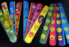 Bulk Lot x 60 Assorted Slap Bands MISPRINTS Kids Party Favor Toys CLEARANCE