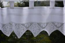 Bistrogardine Häkelkante Scheibengardine Panneaux Landhaus Kurzstore 40/150 Weiß
