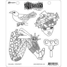 Clockwork Stamp Set Dylusions Dyan Reaveley 4 Rubber STAMPS