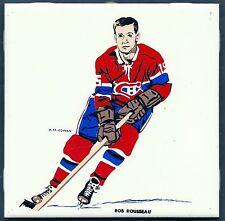 1962-63 H.M.Cowan Ceramic Tile's Canadiens' Bob Rousseau, Mint