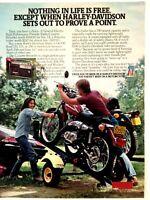 1977 Harley Davidson Motorcycle Vintage Print Ad