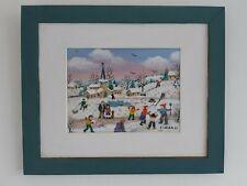"""Charlotte Julian - """" Petite neige """" - Art Naïf - Tableau original -"""