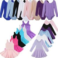 Girls Ballet Leotard Dance Dress Ballerina Skater Tutu Skirt Dancewear Costume