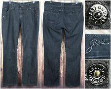 Guess Jeans Black Stud Denim Woman's Pants Size 30 Classic 33 Inch Inseam