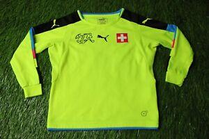 SWITZERLAND 2016/2017 FOOTBALL SHIRT JERSEY GOALKEEPER GK PUMA ORIGINAL YOUNG S
