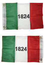 12x18 Alamo Historical 1824 2 Faced 2-ply Nylon Wind Resistant Flag 12x18 Inch