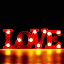 LED LOVE Letter Night Light Marquee Sign Home Decoration Lamp Wedding Decor