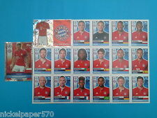Topps Champions League 2016-17 2017 Team Bayern Munchen 2016 2017 completo