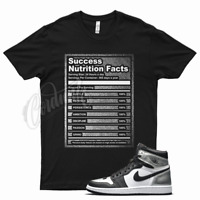 Black SUCCESS T Shirt to match Jordan 1 Metallic Silver Toe Air Force Max 90