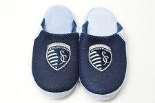 Kids Sporting KC Slippers Forever Collectibles MLS Blue Size Large