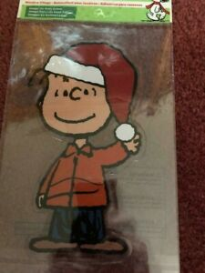 PEANUTS WINDOW CLING IMAGE ON BOTH SIDES LINUS, NEW.