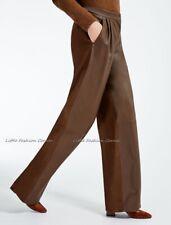 RRP €935🌟MAX MARA  Trousers WOOL&LAMB LEATHER   USA8 _IT42_ D38_ GB10_ FR40