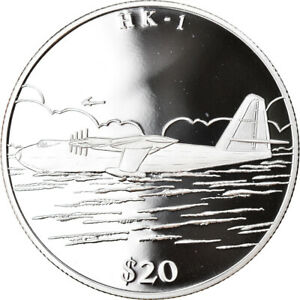 [#788502] Coin, Liberia, H K - 1, 20 Dollars, 2000, Proof, MS(65-70), Silver