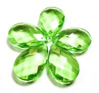 5 Spring Green Diamond Cut 38mm Teardrops Chandelier Crystals