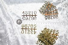 cake decoration topper NUMBERS SET X6 SILVER  GOLD  1 2 3 4 5 6 7 8 9 0 set  60