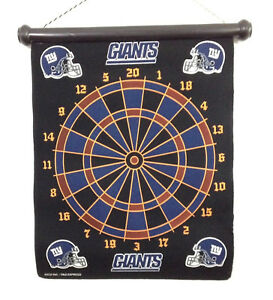 NFL NY Giants Magnetic Hanging Team Dart Board 6 Darts Set Man Cave Dartboard